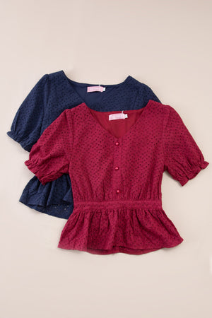 Front Button Top 7345