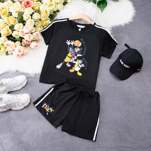 Mickey Top With Short Pant Set 7612A Sets