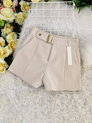 Front Button Short Pant 7676A Bottoms