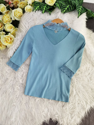 Long Sleeve Knit Top 7768