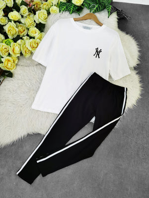 New York Top With Sport Long Pant Set 7775 Sets