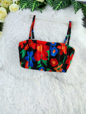Flower Tube Top 7856A Tops