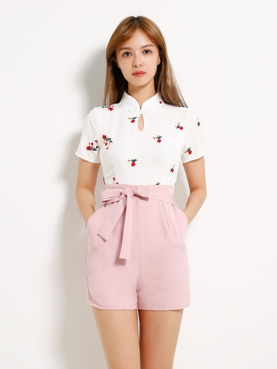 Flower Dual Tone Playsuit 13194