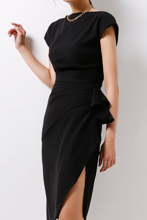Dress With Draping Details (Premium Quality Pre-Order)