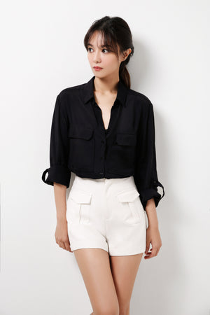 Silk Blend Cotton Long Sleeves Blouse  (Premium Quality Pre-Order)