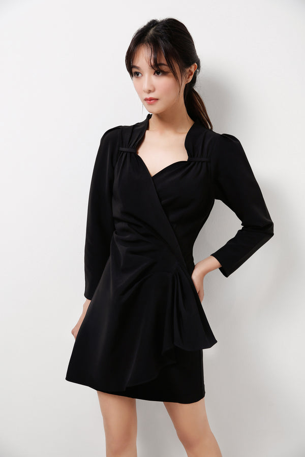 Long Sleeves Draping Dress  (Premium Quality Pre-Order)