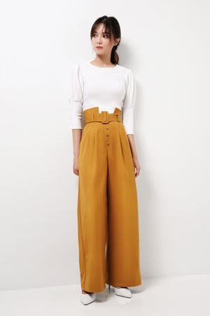 High Waisted Wide Leg Pants (Premium Quality Ready Stock)