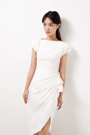 Dress With Draping Details (Premium Quality Ready Stock)