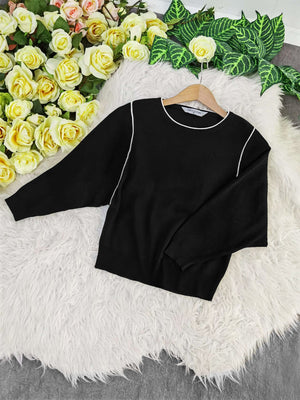 Long Sleeve Knit Top 7913
