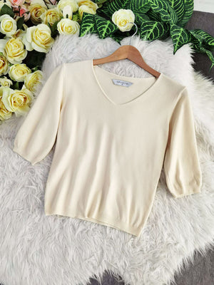 Long Sleeve Knit Top 7963A Tops