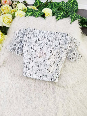 Flower Lace Top 8055