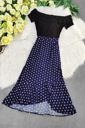 Polka Dot Dress 8208 Dresses