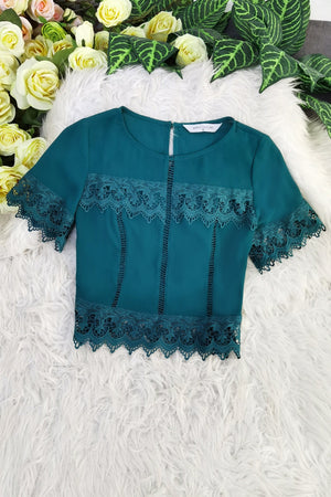 Lace Patch Top 8316 Tops