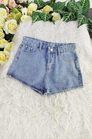 Denim Short Pants 8574A