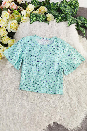 Polka Flower Top 8579
