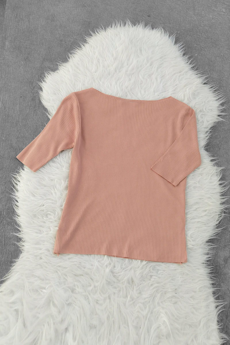 Plain Knit Top 8875A