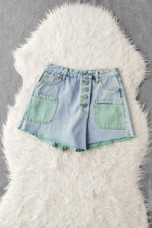 Front Pocket Denim Short Pants 9545A