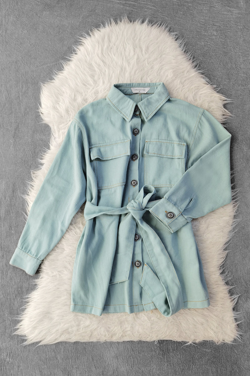 Front Button Denim Shirt 9773