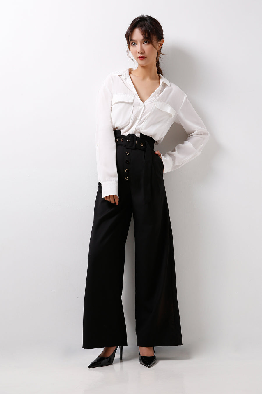 High Waisted Wide Leg Pants  (Premium Quality Pre-Order)