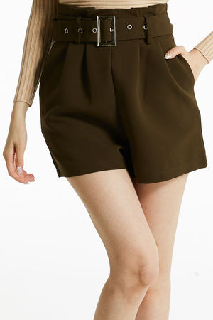 Short Pant With Belt 0793 - Ample Couture