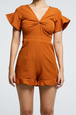 V Neck Playsuit 0723 - Ample Couture