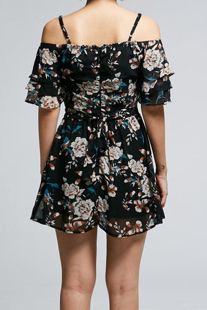 Floral Print Playsuit 0627 - Ample Couture
