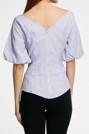 V-Neck Blouse 0730 - ample-couture
