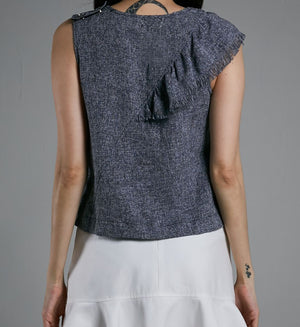 LAYERED SLEEVELESS BLOUSE 0524 - Ample Couture