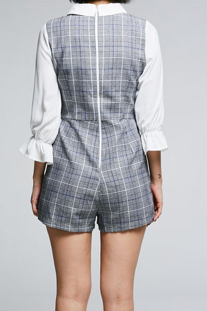 Checked Print Playsuit 0630 - Ample Couture