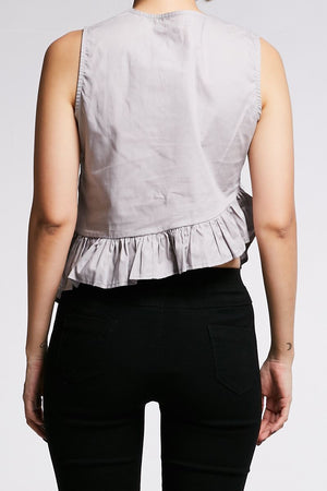 Layered Sleeveless Blouse 0648 - ample-couture