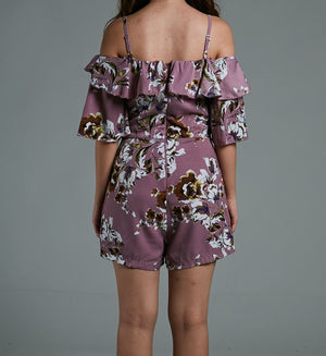 Floral Print Playsuit 0581 - ample-couture