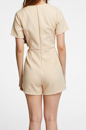 V Neck Playsuit 0734 - ample-couture