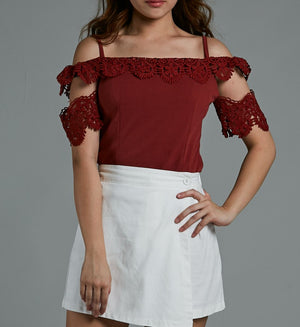 Off Shoulder Lace Top 0588 - Ample Couture
