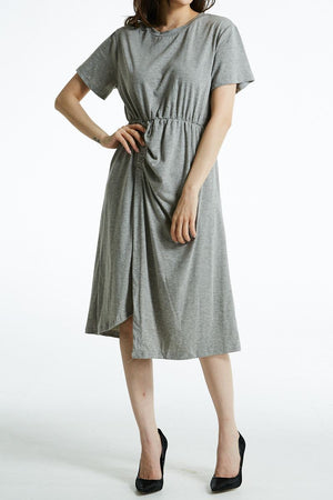 Short Sleeve Midi Dress 0801 - Ample Couture