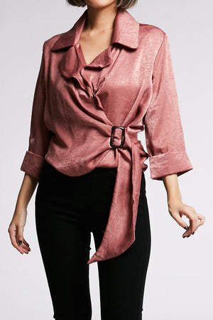 Long Sleeves Collar Blouse 0650 - ample-couture