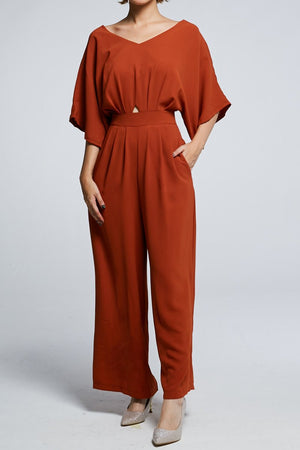 Short Sleeves Jumpsuit 0606 - ample-couture