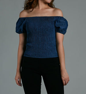 Off Shoulder Plain Top 0583 - ample-couture