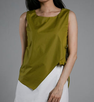 Side Tie Blouse 0525 - ample-couture