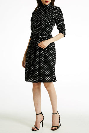 Small Polka Dot Dress 0789 - Ample Couture