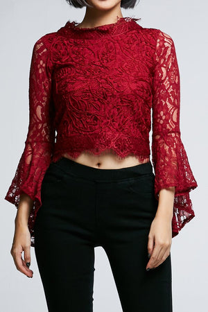 Long Sleeves Lace Top 0622 - Ample Couture