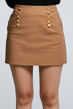 Button Skirt 0601 - Ample Couture