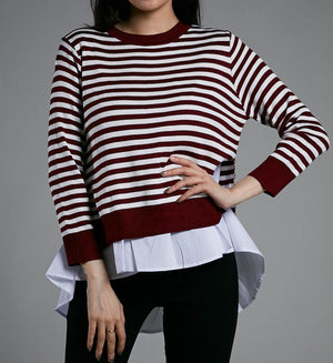 STRIPE PRINT TOP 0533 - Ample Couture