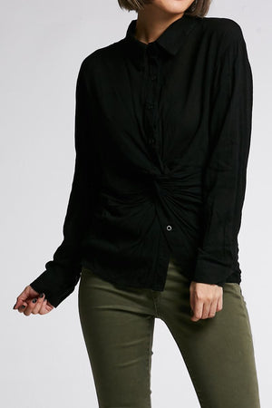 Long Sleeves Plain Top 0674 - ample-couture