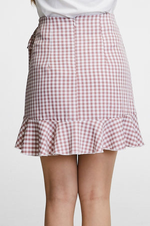 Checker Skirt Pant 0753 - Ample Couture