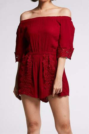 Off Shoulder Romper 0649 - Ample Couture