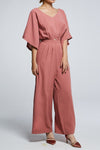 Short Sleeves Jumpsuit 0606 Pink / M Jumpsuits