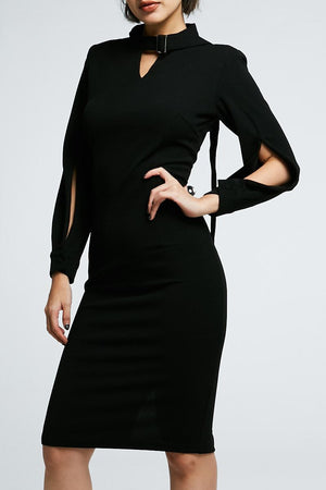 Open Sleeves Long Dress 0708 - Ample Couture