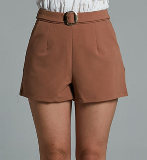 Fake Belt Short Pant 0578 - Ample Couture