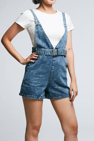 Denim Cross Playsuit 0646 - Ample Couture