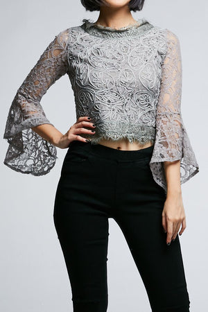 Long Sleeves Lace Top 0622 - ample-couture